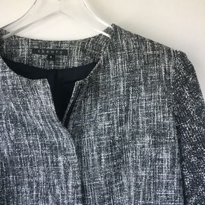 THEORY Tweed Patterned Boucle Blazer